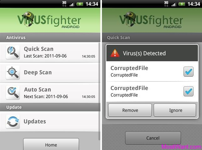 VIRUSfighter Android