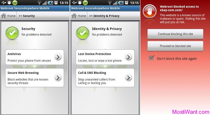 Webroot Secure Anywhere Mobile