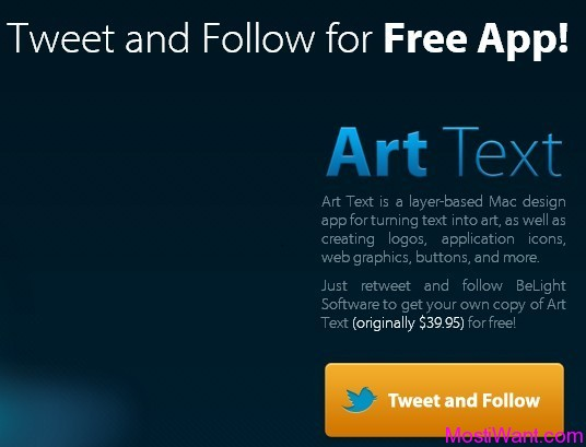 Art Text for Mac OS X Free License Code