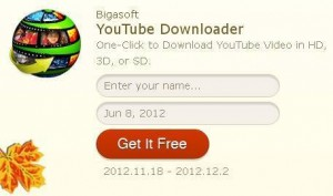 Bigasoft YouTube Downloader Thanksgiving Day Free Giveaway