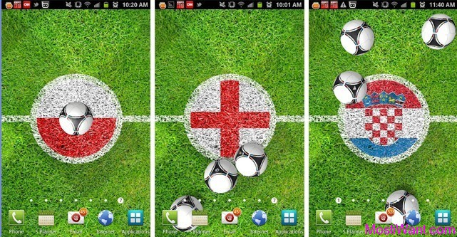 Euro 2012 Free Live Wallpaper for Android