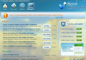 Kingsoft Antivirus 2012 Anti-Hacker
