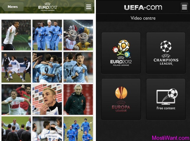 Official UEFA EURO 2012 Mobile App
