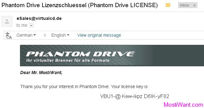 Phantom Drive Free License Key