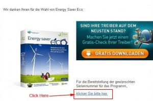 Avanquest Energy Saver Eco Confirmation Link