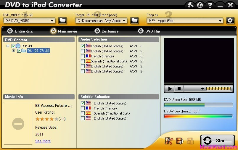 Aviosoft DVD to iPad Converter
