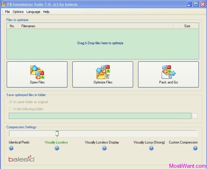 Balesio FILEminimizer Suite 7.0
