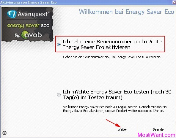 Energy Saver Eco Activation