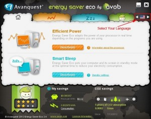Avanquest Energy Saver Eco Multilingual user interface