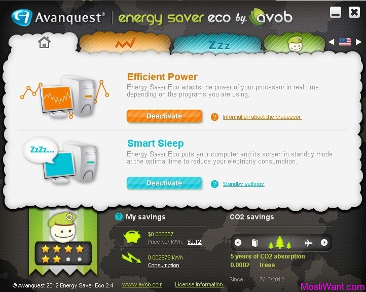 Avanquest Energy Saver Eco Software