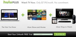 Hulu Plus Free 2 Month Trial Subscription