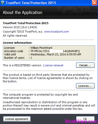 TrustPort Total Protection 2015 Full Version