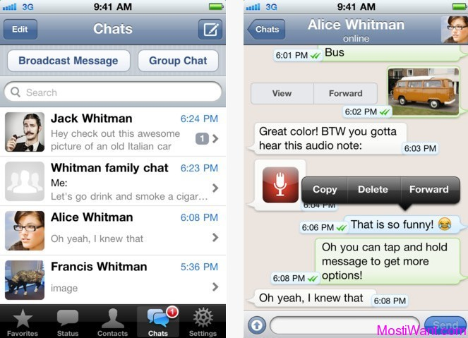 WhatsApp Messenger App For iPhone