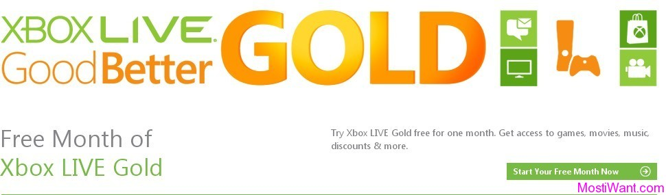XBOX Live Free 1 Month Gold Membership