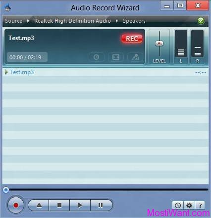 Audio Record Wizard