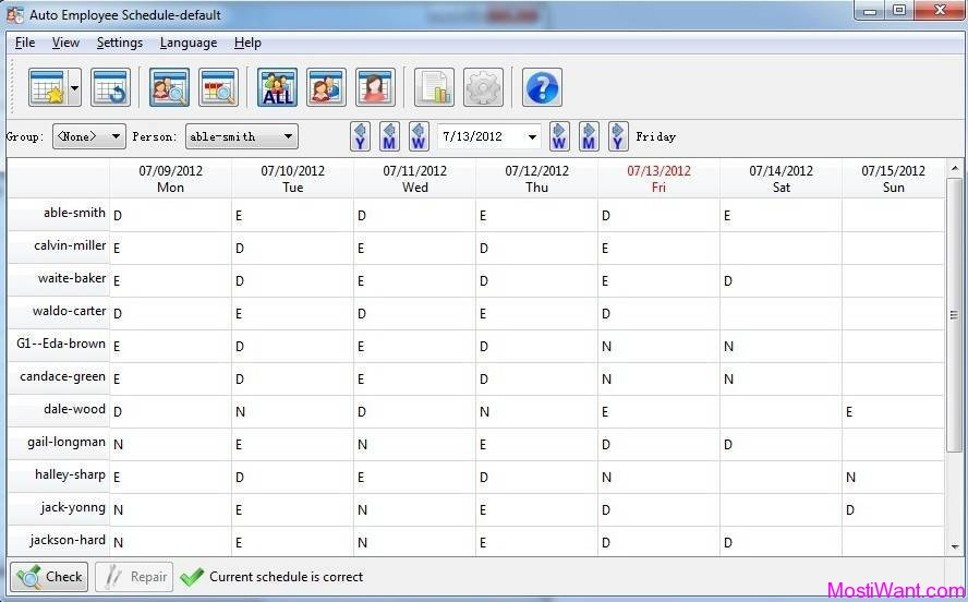 Auto Employee Schedule Software