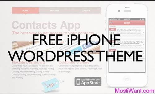 Darstell Free iPhone WordPress Theme