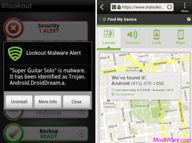 Lookout Mobile Security: Best Free Antivirus, Antitheft, BackUp App for Android