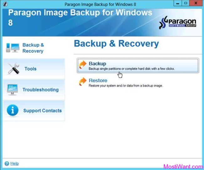 Partition Image Backup for Windows 8