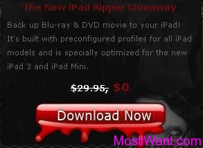 WinX Bluray DVD iPad Ripper Free Giveaway