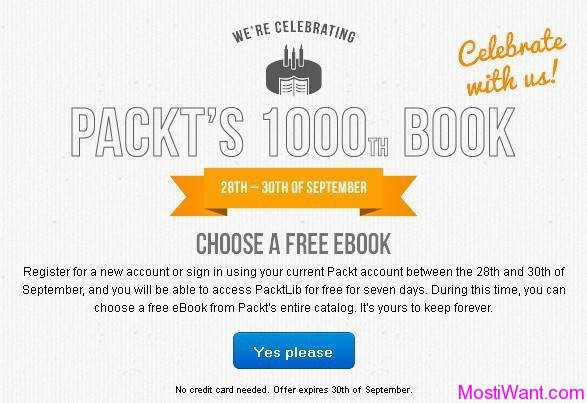 Download Any One Ebook Free from Packt Publishing