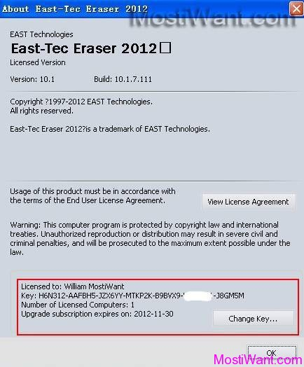 East-Tec Eraser 2012 Free Full Version