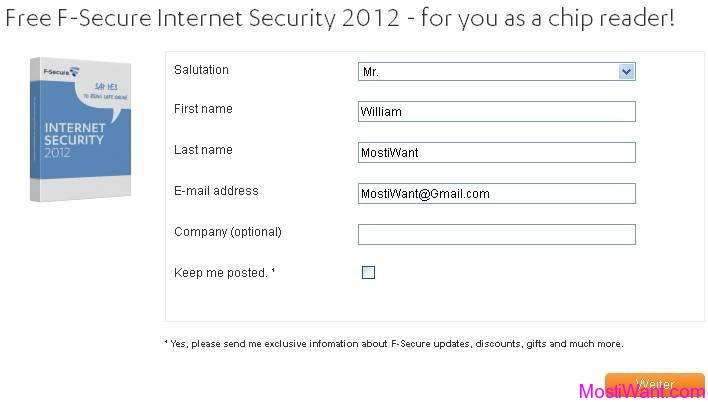F-Secure Internet Security 2012 Free Giveaway