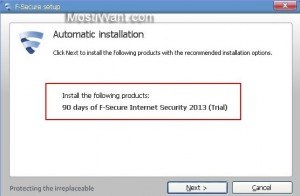 F-Secure Internet Security 2013 Free 90 Days Trial