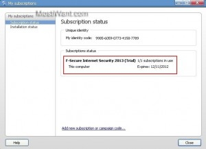 F-Secure Internet Security 2013 Free 6 Months Trial License Key