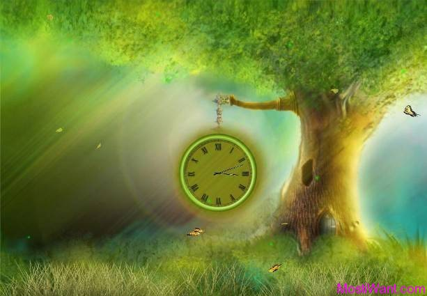 Fantasy Clock Animated Wallpaper