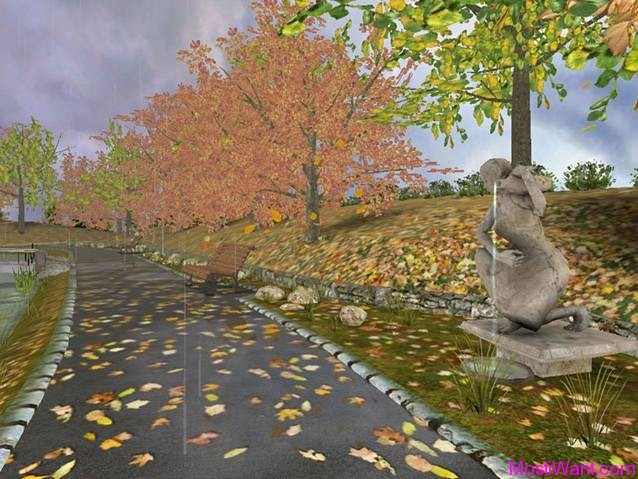 Golden Autumn 3D Screensaver