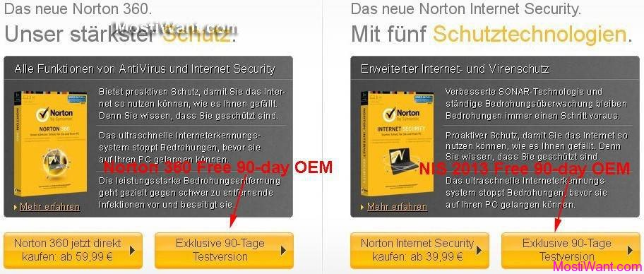 Norton 360 2013 Free OEM Version