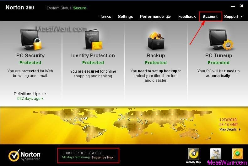 Norton 360 V5 Free 90 days OEM Version