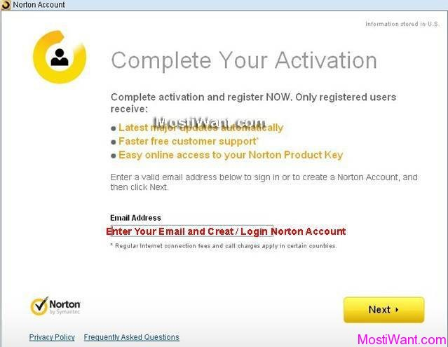 Norton 360 V5  Free 90 days trial Activation - Norton Account