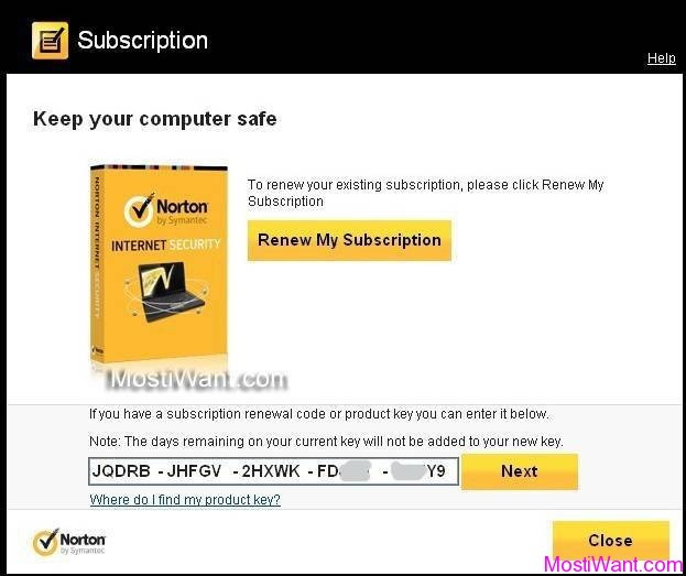 Norton Internet Security 2013 Free 180 days trial Activation