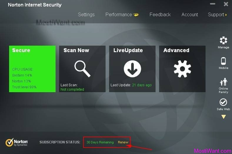Norton Internet Security 2013 Free 30 day trial Subscription