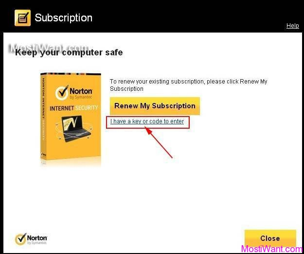 Norton Internet Security 2013 Renew with Key Code