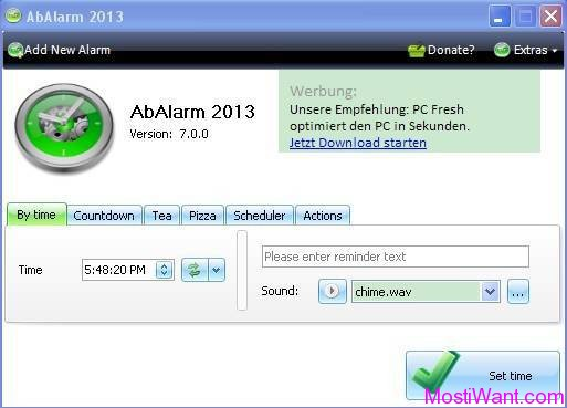 AbAlarm 2013: Alarm Clock Freeware