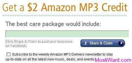 Get a free $2 Amazon MP3 Credit