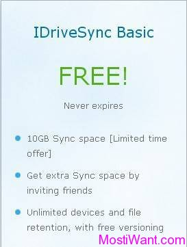 FREE 10 GB IDriveSync Cloud Storage Storage