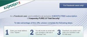 Kaspersky PURE 2.0 Total Security Free Download 6 Months Trial Activation Code
