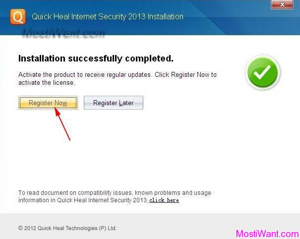 Quick Heal Internet Security 2013 Free Registration