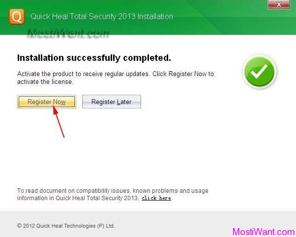 Quick Heal Total Security 2013 Free Registration