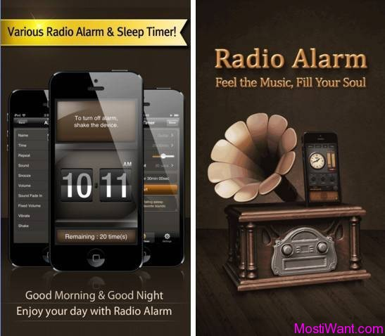 Radio Alarm Clock iOS App