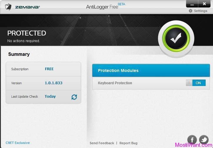 Zemana AntiLogger Free Version: Freeware with Basic Keylogging Protection