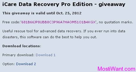 free download icare data recovery software with serial key