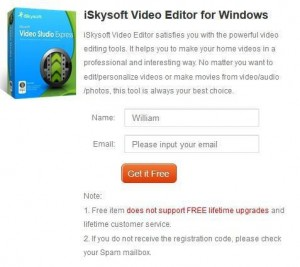 iSkysoft Video Editor Giveaway