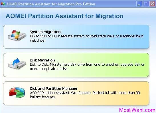 AOMEI Partition Assistant for Migration Pro Edition