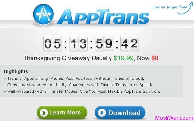 AppTrans Thanksgiving Giveaway