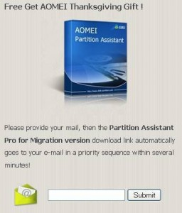 Free Get AOMEI 2012 Thanksgiving Gift